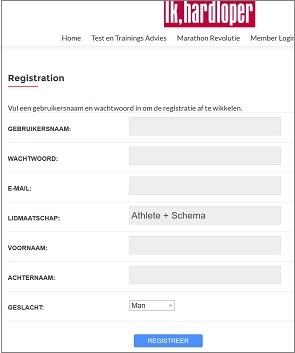 marathon revolutie registratie